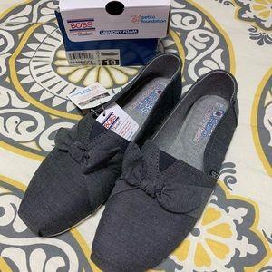 Grey slip on shoes